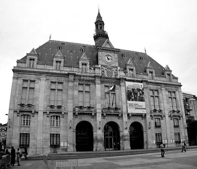 Building of the city hall in Seine Saint Denis. The buidling is located in the departement 93.