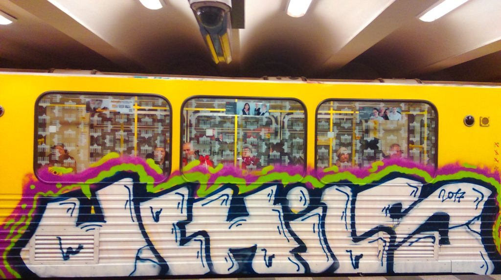 UCHILS-Graffiti on the Berlin Subway