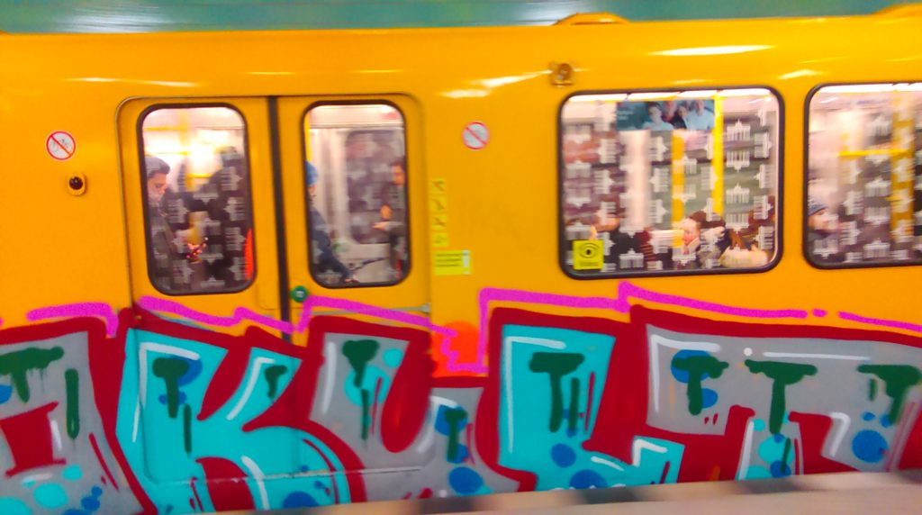 OKULT-Graffiti on the Berlin subway,