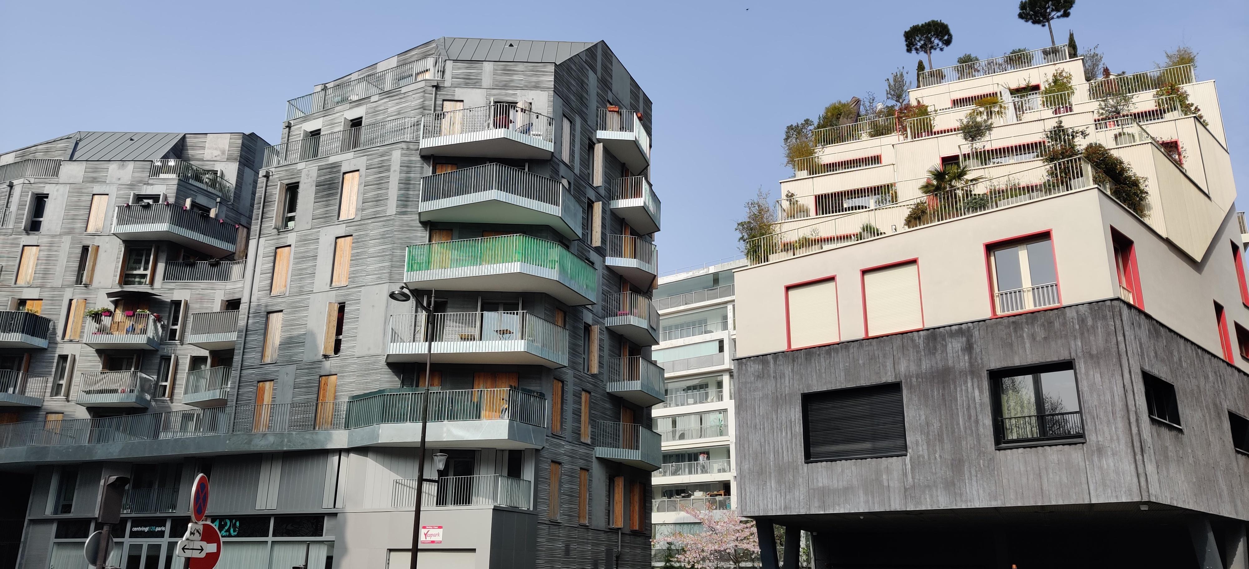 Immeuble ville de demain ZAC Saussure-Cardinet écoquartier Paris 17eme Arrondissement  Végétalisation urbain balcon architecture parisienne urbanisme