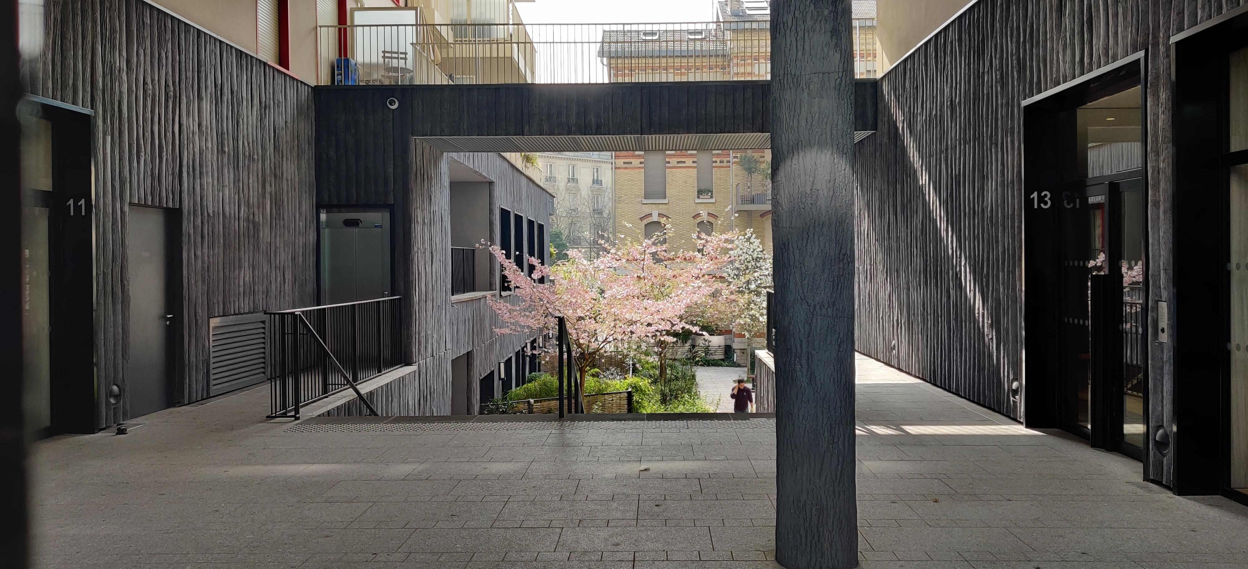 cour intérieur ZAC Sausssure-Pont Cardinet, 17eme Paris urbanisme architecture